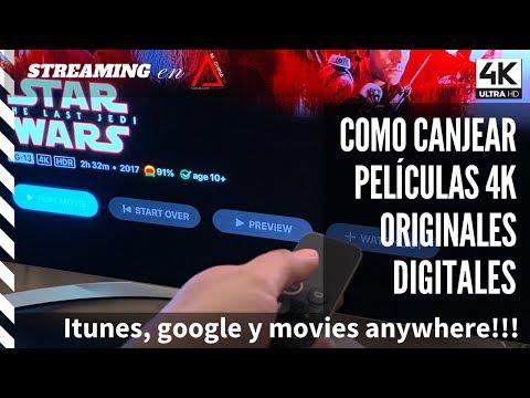 ¿Como Canjear Códigos De Películas 4K Originales De Itunes, Microsoft O Movies Anywhere ?