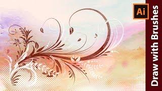 كيفية جعل الزهور خلفية الجرونج في Adobe Illustrator