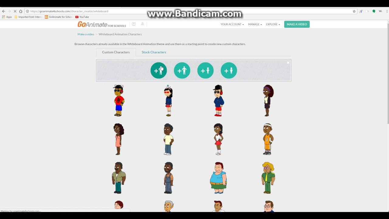 How to get Comedy World and the Character Creator back on GoAnimate