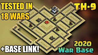 New Th9 UNBEATABLE 2020 War Base w/Replay Proof + BASE LINK! (ANTi- AIR + GROUND)