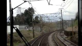 東海道本線函南~三島の前面展望です。373系で撮影。