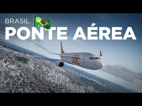Prepar3D - B737-800 / São Paulo → Rio de Janeiro online pela Ivao