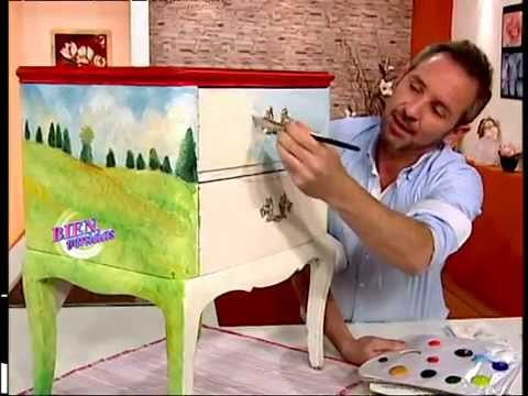 Diego Raimondo - Bienvenidas TV - Pinta un Paisaje Impresionista en Mesa de Luz