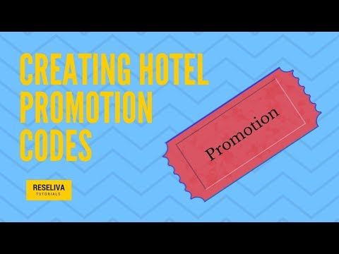 Creating Hotel Promotion Codes