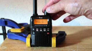 programming and setup of the ic r6 icom scanner for airshows