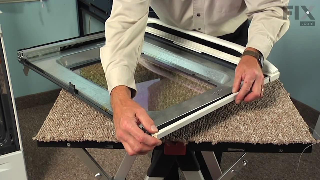 Whirlpool Range Repair U2013 How To Replace The Inner Door Glass