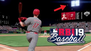 This Baseball Got Destroyed! Bryce Harper vs Mike Trout! - RBI Baseball 19
