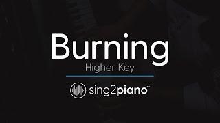 Burning (Higher Piano Karaoke) Sam Smith