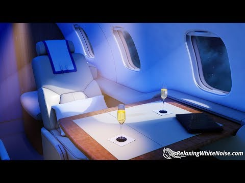 White Noise Private Jet  Sleep or Study to Airplane Cabin Sound  10 Hours Plane Noise
