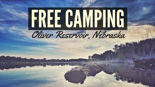 Free Camping at Oliver Reservoir, Nebraska ⛺✌ Full Time RV Living 🚐💨 Van Life and Free Boondocking