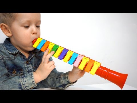 Learn Colors With musical instrument toy for Children | Baby & Toddlers - Kid - family finger song