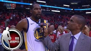 Kevin Durant on 37-point outing in Game 1 win over Rockets: 'I'm better' when I'm aggressive | ESPN
