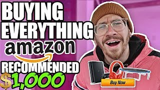 Buying EVERYTHING Amazon Recommended To Me! ($1000 Amazon A - Z CHALLENGE) thumbnail