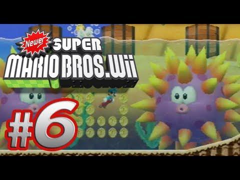 Newer Super Mario Bros. Wii - 100% Co-op Walkthrough Part 6