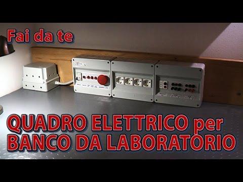 Banco Da Lavoro Hobbistico : Quadro elettrico per banco da laboratorio di elettronica fai da