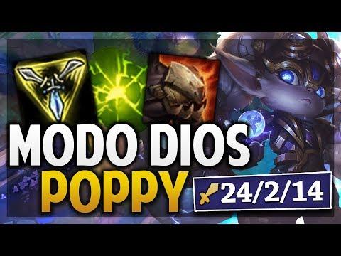 ¡POPPY MODO DIOS! | UN TANQUE PUEDE HACER TANTO DAÑO? | League of Legends thumbnail