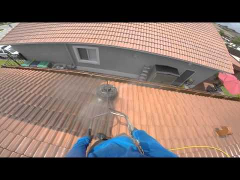 ROOF TILES PRESSURE CLEANING WITH 8 GPM PRESSURE WASHER