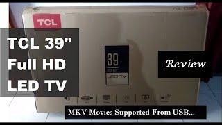 TCL 99 1 cm full HD LED TV L39D2900 UNBOXING box contact