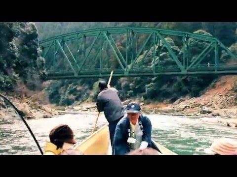 Hozugawa River Boat Ride (保津川下り), near Kyoto (Music: Aphex Twin)