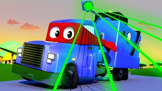 Carl the Super Truck -  The MULTIPLIABLE POLICE Trucks - Car City ! Cars and Trucks Cartoon for kids