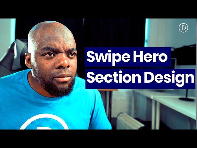 Download a FREE CTA Column Swipe Hero Section Design for Divi