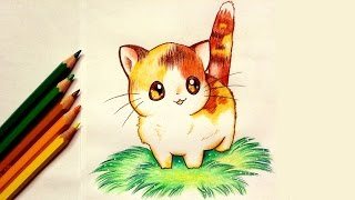 Drawing a Kawaii Kitten