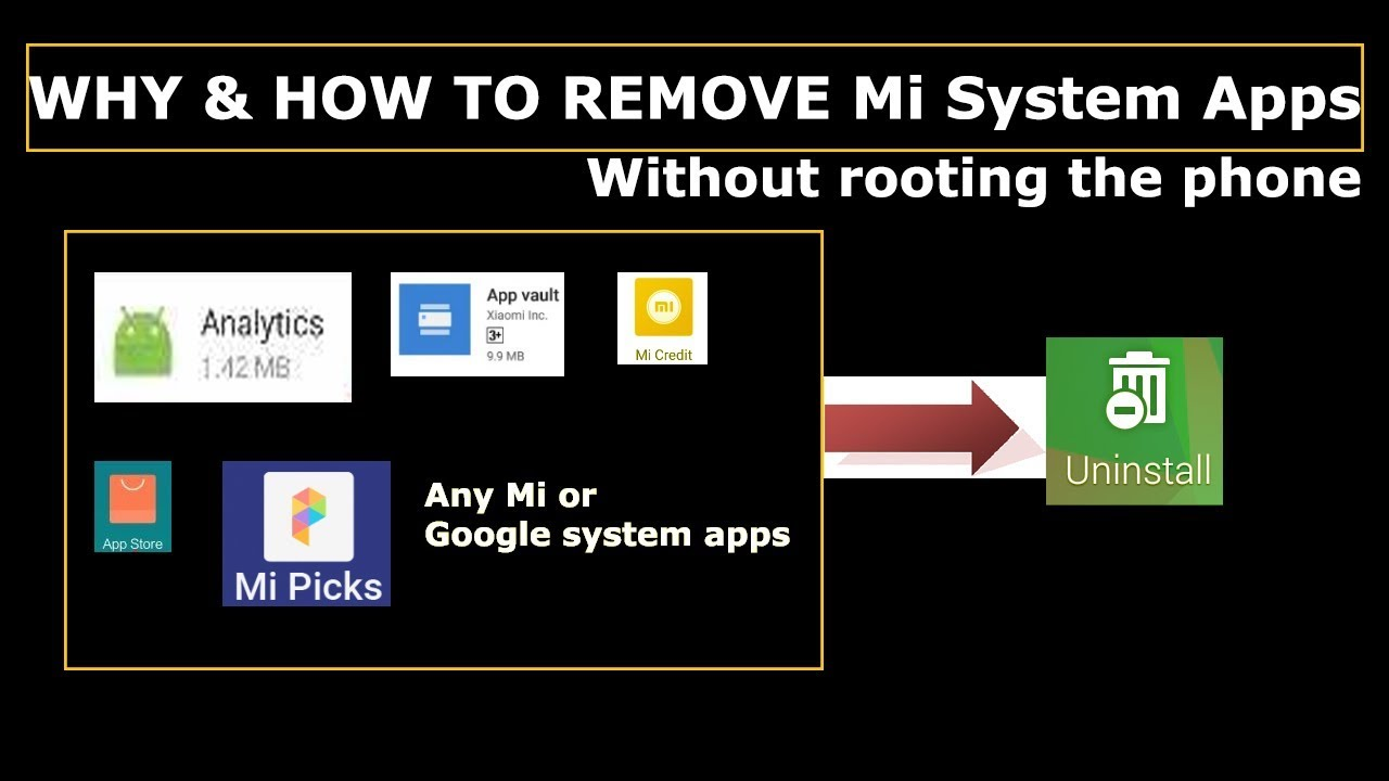How to uninstall Mi system apps without rooting