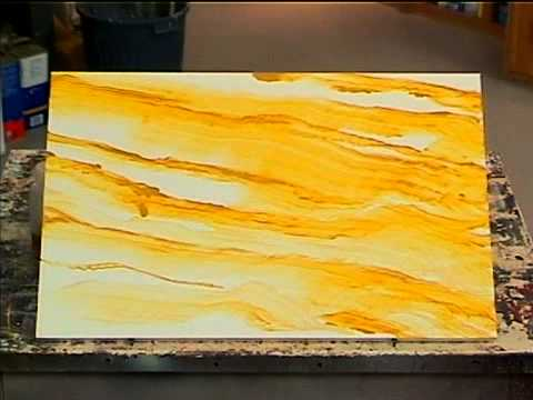 Faux Marble Painting Technique