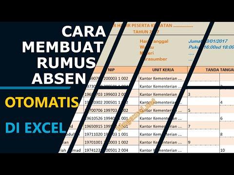 Cara Mudah Membuat Rumus Absensi di Excel
