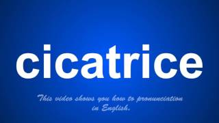 the correct pronunciation of cicatrice in English.