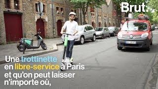 Des trottinettes électrique en libre-service à Paris
