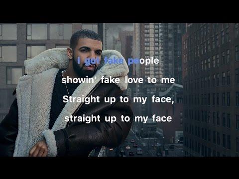 Drake - Fake Love Karaoke