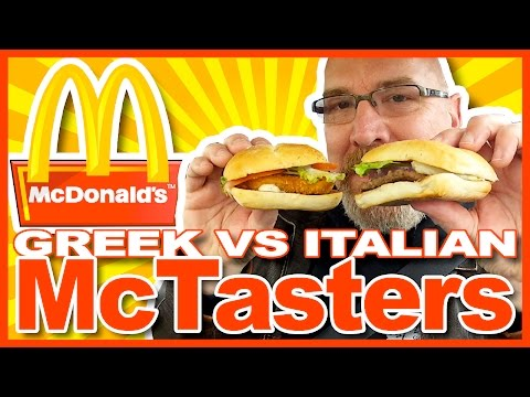 McDonald's ♥ McTasters Greek vs Italian Review plus Drive-thru Experience