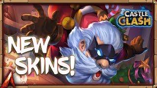 New Skins! Super Hero Santa Boom! Castle Clash