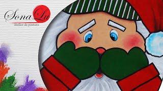 Papai Noel em Emborrachado por Sonalupinturas
