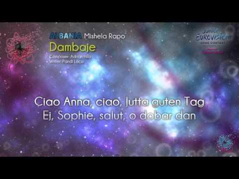 """Mishela Rapo - """"Dambaje"""" (Albania) - [Karaoke version]"""