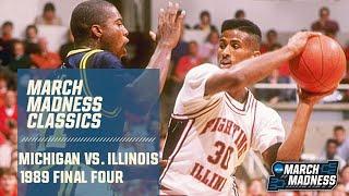 Michigan vs Illinois in 1989 Final Four (Full game)