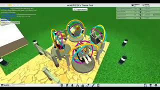 Foxy Gamer Roblox playing theme park tycoon