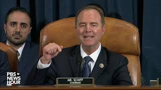 WATCH: Rep. Adam Schiff says GOP are upset because Trump got caught   Trump impeachment hearings