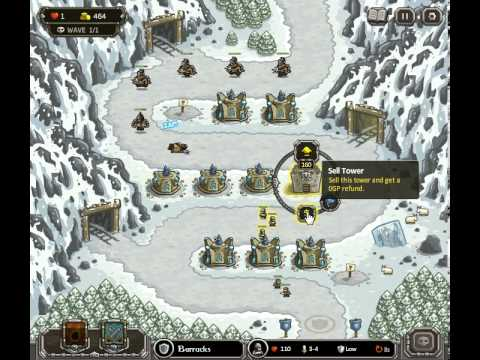 Kingdom Rush Coldstep Mines Hard Iron Challenge (Flash)