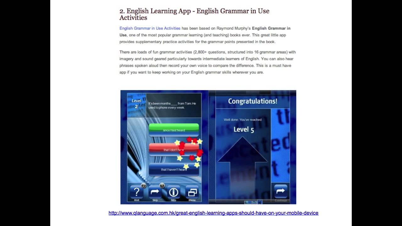 English Language Learning Apps - 3 of the BEST!!