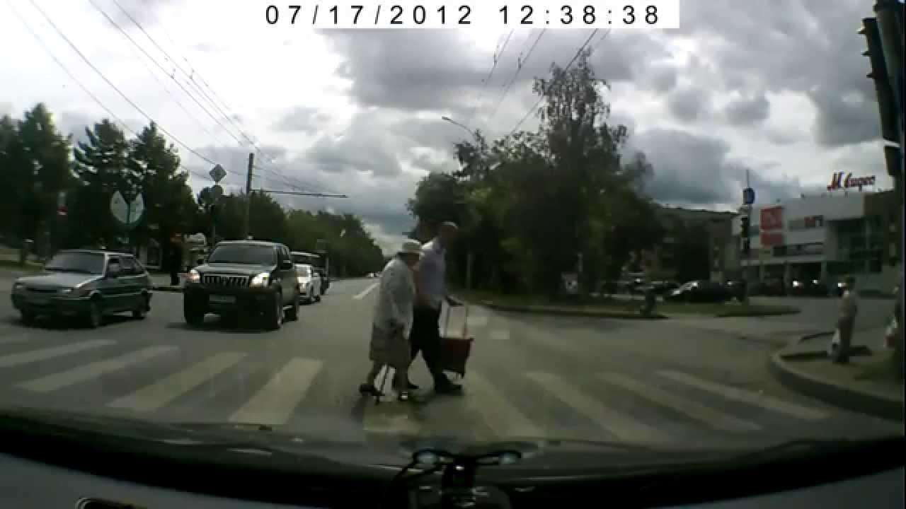 Helping Elderly Cross The Street