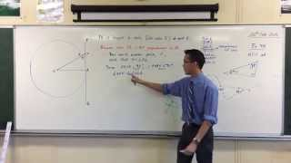 Tangent & Radius are Perpendicular (Proof by Contradiction)