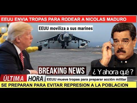 EEUU mueve tropas para acción militar en Venezuela