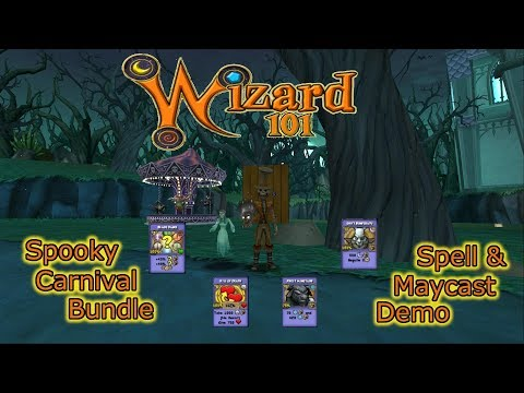 Wizard101 Spooky Carnival Spell and Wand Maycast NOSFERABBIT