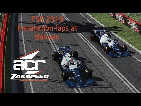 Formula SimRacing FSR 2018 - ACR Zakspeed Installation laps at Bahrain