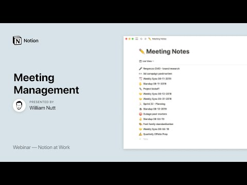Notion At Work: Meeting Management