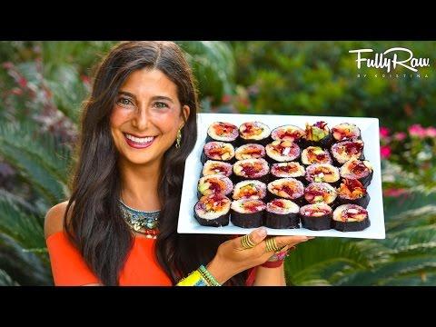 FullyRaw Rainbow Sushi Rolls!