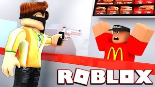 ROBBING MCDONALDS | Roblox | Robbing McDonalds in Roblox