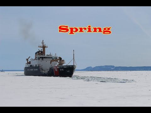 Ice Breaking Port Thunder Bay Ontario Lake Superior USCG Alder